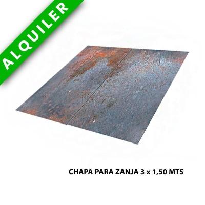 CHAPA PARA ZANJA 3x1,5 MTS