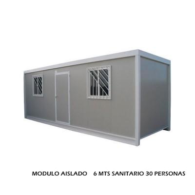 MODULO AISLADO 6 MTS SANITARIO 30 PERSONAS