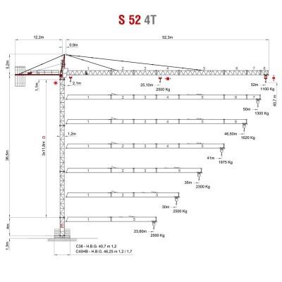 GRÚA TORRE SAEZ S52 4T
