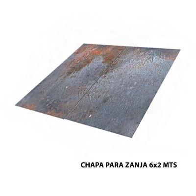 CHAPA PARA ZANJA 6x2 MTS