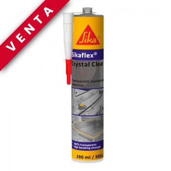 SIKA FLEX CRYSTAL CLEAR SELLADOR INVISIBLE Pack 12 Unds.- Venta