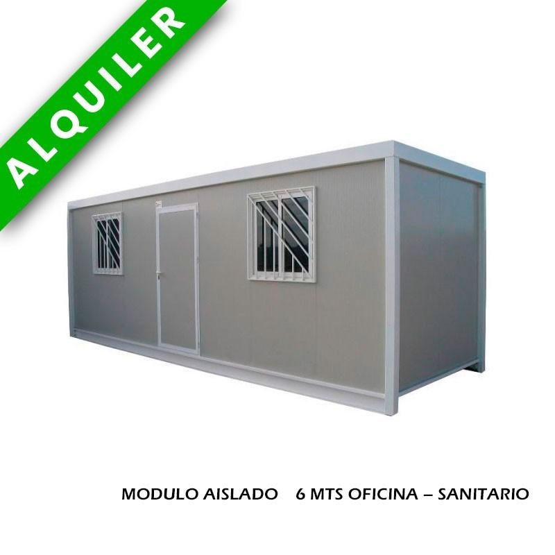 MODULO AISLADO 6 MTS OFICINA + SANITARIO
