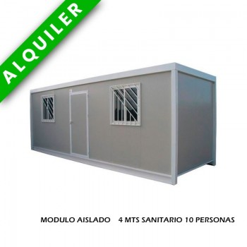 MODULO AISLADO 4 MTS SANITARIO 10 PERSONAS